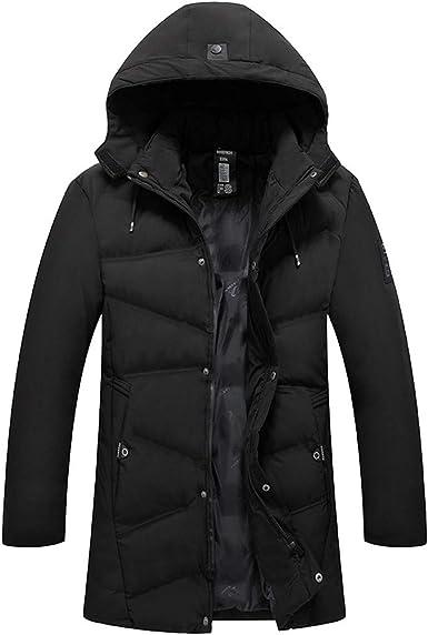 Mens Coat Pervobs Mens Winter Warm Thicken Fleece Hooded Coat Zipper Pocket Jacket Outwear Coat M-4XL