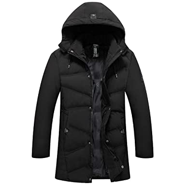 663c9bde869 Clearance WUAI Mens Lightweight Jacket Casual Solid Hoodies Winter Warm-up  Zip Coat with Pocket Down Jacket Outwear at Amazon Men s Clothing store