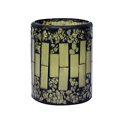 GiveU Mosaic Flameless Candle, Pillar Led Candle with Timer, 3X4, for Home Decor, Weddings, Partys and Awesome Gift