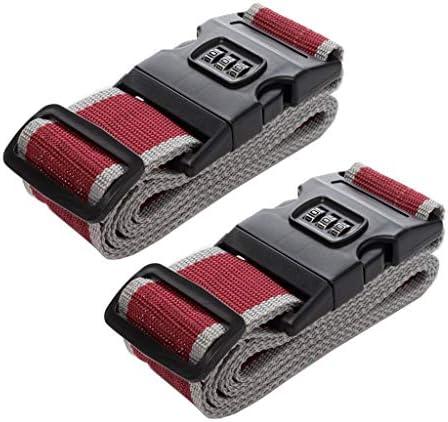 LQQGXL 定着ベルト 重いスーツケースは、2つのロードと名札スロット調整可能な袋でケリや旅行アクセサリーストラップ荷物を詰めました (Color : C)