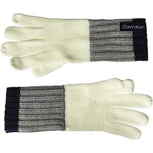 Calvin Klein Womens Color Block Knit Gloves