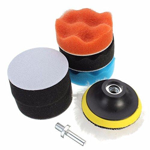 8Pcs 3 Inch Woolen Polishing/Buffing Pad Kit For Car Polisher by BephaMart (Image #6)