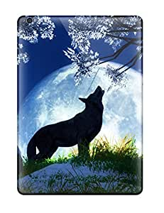 Tpu Fashionable Design Night Wolf Desktop Rugged Case Cover For Ipad Air New
