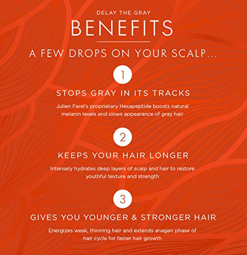 Julien Farel Magnifique Delay The Grey Hair & Scalp Serum, 1.7 Fl Oz – SLS & Paraben Free – Best for Normal, Fine, Thinning, Damaged and All Hair Types, As Seen on The View by Julien Farel Products (Image #7)