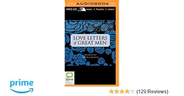Amazon Love Letters Of Great Men 9781486274857 Various Allan Corduner Books