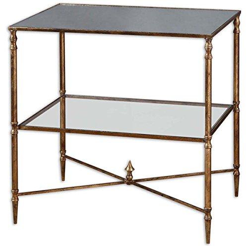 Uttermost 26120 Henzler Mirrored Glass Lamp Table