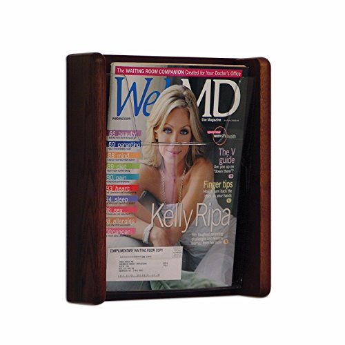Mahogany Wall Pocket - Wooden Mallet Stance 1 Pocket Magazine Holders Wall Display Rack Mahogany electronic consumers