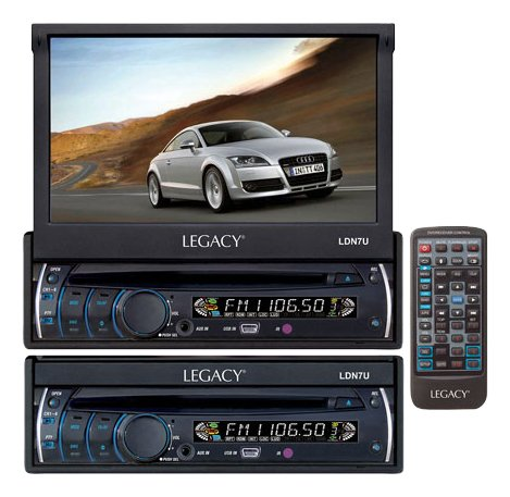 Legacy LDN7U 7-Inch Motorized Touch Screen TFT/LCD Monitor with DVD/CD/MP3/AM/FM - Legacy Dvd Player