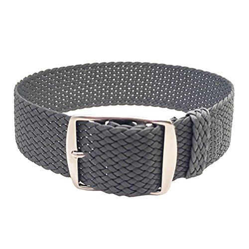 Wrist And Style Perlon Watch Strap - Dark Grey | 22mm