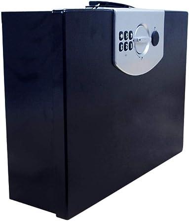 Hammer caja de caja de seguridad portátil de almacenamiento portátil coche especial antirrobo Caja armario, caja de seguridad resistente a fuego grande de acero con cerradura digital, Pies Cúbicos-0,4: Amazon.es: Hogar