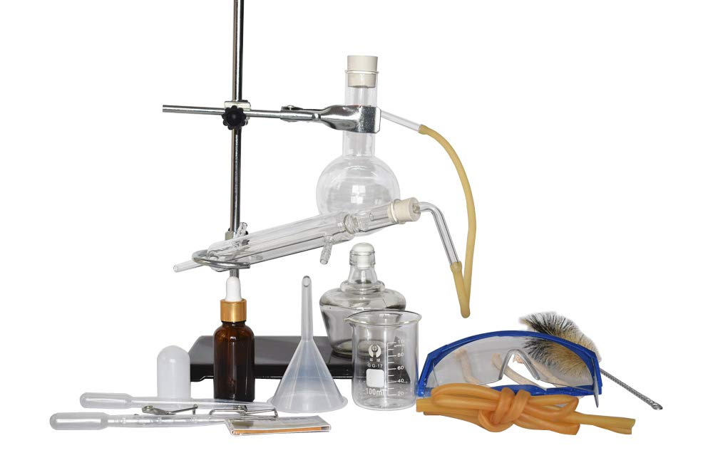 250ml Home Distiller Alcohol Distiller Essential Oil Extraction Chemical Experiment Equipment to Making Your Own Essential oil Moonshine (Kit 1)
