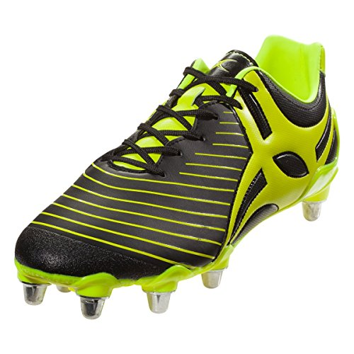 Gilbert Evo MK2 8S Rugby Boot, US 10 Yellow ()