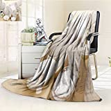 Decorative Throw Blanket Ultra-Plush Comfort spa treatment with towels and herbal creams and scrubs Soft, Colorful, Oversized | Home, Couch, Outdoor, Travel Use(60''x 50'')