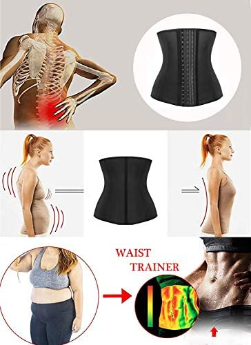Details about  /SHAPERX Women/'s Latex Colombian Waist Trainer Corset Long Torso Weight Loss 3 Ho