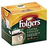 Folgers Classic Medium Roast Decaf Coffee, 19 Count Singles Serve (6 Pack)