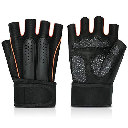 GOROWINGO Weight Lifting Sports Gloves Gym Workout Gloves Rowing Gloves with Wrist Wrap Support for Men Women,Full Palm Protection,Great for Weightlifting,Cross Training,Fitness,Hanging,Pull Ups