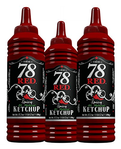 78 Red Spicy Ketchup 17.2 oz, 4 Pack
