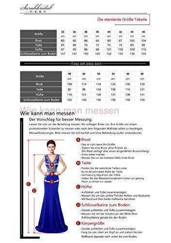 Sarahbridal - Vestido - Sin mangas - para mujer blanco y negro