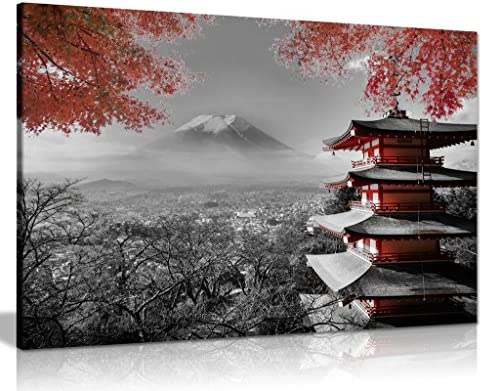 Japanese Temple Picture Print 36x24in product image