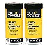 Tub O Towels Heavy-Duty Multi-Surface Cleaning Wipes, Citrus, 7 X 8 Inch, 2 Count