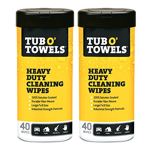 Tub O Towels Heavy-Duty Multi-Surface Cleaning Wipes, Citrus, 7 X 8 Inch, 2 Count (Tub Of Towels compare prices)