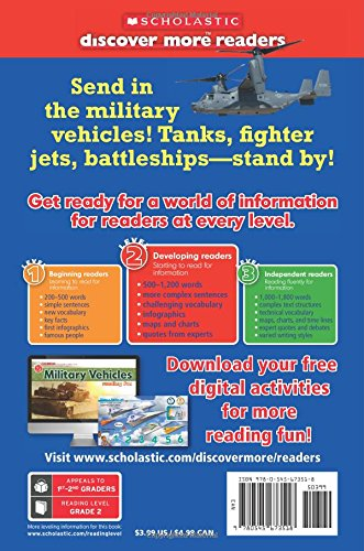 Scholastic Discover More Reader Level 2: Military Vehicles (Scholastic Discover More Readers)