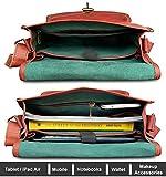 "Rustic Town 13"" Brown Genuine Leather Crossbody Bag"