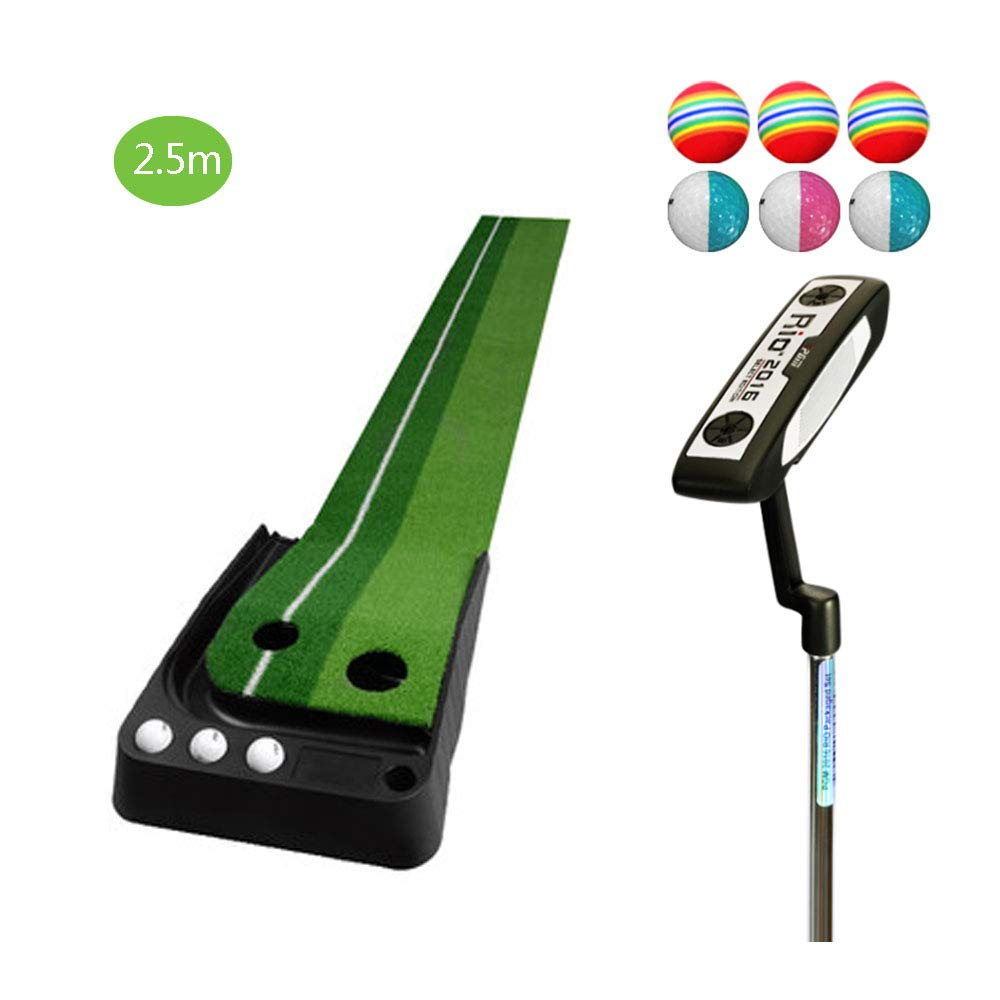 TESITEゴルフパッティング練習子供大人用練習マットセット(2.5m×41cm)   B07L1JWGTN