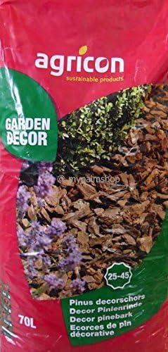 pininen Dekor corteza 70L 15 – 25ømm corteza de pino Decoración corteza: Amazon.es: Jardín