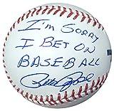 "Pete Rose Autographed Official MLB Baseball Cincinnati Reds ""I'm Sorry I Bet on Baseball"" PSA/DNA Stock #107495"