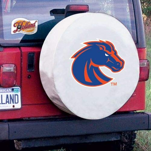 Boise State Tire Cover - Holland Bar Stool TCYBoiseSWT-32 1/4 x 12 Boise State Tire Cover-White