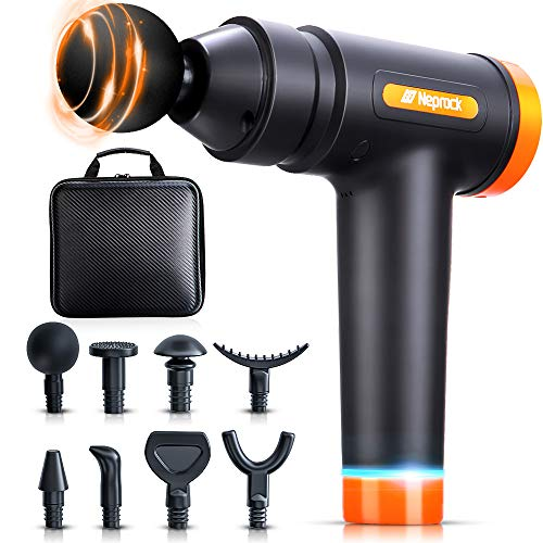 Muscle Massage Gun deep Tissue, 20 Speeds Deep Percussion Massager Gun for Athletes with Carrying Case & 8 Heads, Help Relieve Sore Muscles and Stiffness