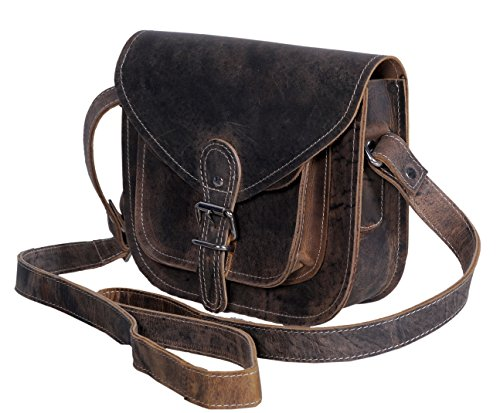 KomalC 12 Buffalo Leather Purse Satchel Travel Tote Cross Body BagSALE