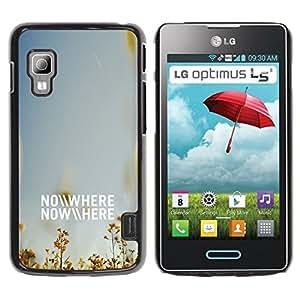 ROKK CASES / LG Optimus L5 II Dual E455 E460 / NO WHERE - NOWHERE / Delgado Negro Plástico caso cubierta Shell Armor Funda Case Cover