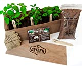 #10: Indoor/Outdoor Herb Garden Kit - Classic Wood Planter Box with Herb Seeds, Plant Stakes and Expanding Wondersoil - 16