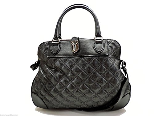 Satchel Jacobs Quilted Marc (Marc Jacobs Quilting Whitney Leather Satchel Handbag Pearl Anthracite Italy)