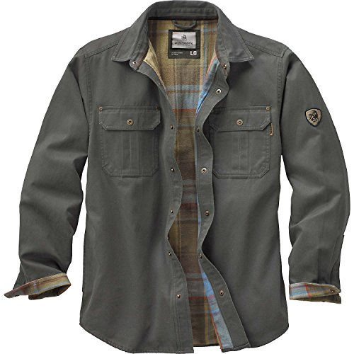 Legendary Whitetails Mens Journeyman Shirt Jacket Army Large