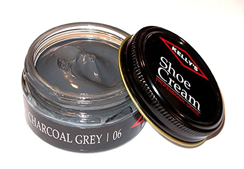 Made in USA Kelly's Shoe Cream Leather Polish many colors available. (CHARCOAL GREY)