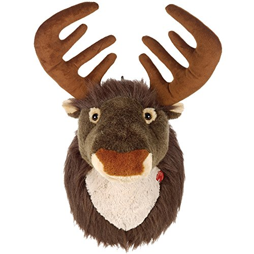 - Christmas Shop Battery Operated Singing Reindeer Head (One Size) (Brown)