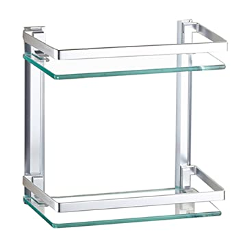 glass wall shelf bathroom organizers and storage shower caddy shelf hanging silver space aluminum