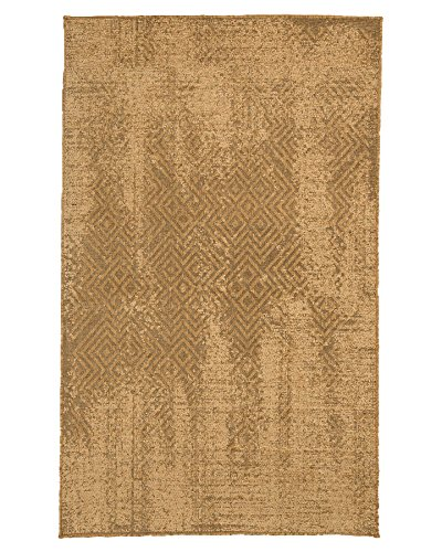 NaturalAreaRugs Turkish Rome Vintage Design Olefin, Jute, And Polyester Chenille Area Rug, Durable, Eco-Friendly, Brown Color (5 Feet X 8 Feet) (Rugs Chenille Jute)