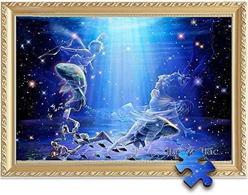 JIADUOBAO-puzzel Vissen puzzel 500/1000/1500 Piece, 75,5 x 50.5cm for volwassenen Decorative Paintings Brain Game - Zodiac Constellation Series JIADUOBAO-puzzel ( Size : 500pcs ) MRIKE5Gt