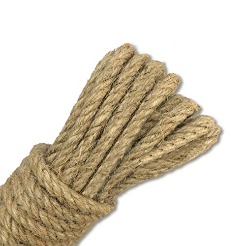 Hemp 3 Ply (Jute Rope 82 Feet Gardening Rope 4mm Jute Cord 3 Ply Nature Hemp String for Arts Crafts DIY Decoration Gift Wrapping)