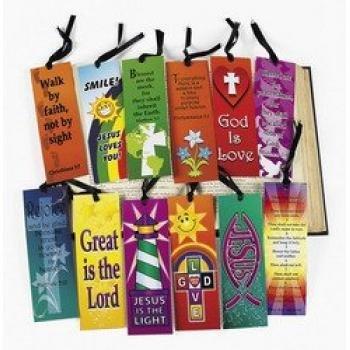 Mega Religious Bookmark Assortment (12 dozen) - - Christian Bookmarks