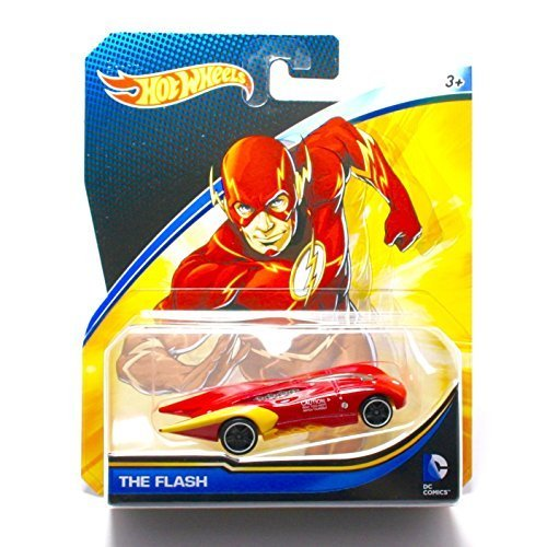 Hot Wheels, 2015 DC Comics Character Car, The Flash, 1:64 Scale