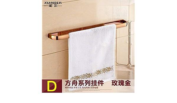 Amazon.com: Taoliangad Toallero de latón para montaje en pared de palanca única toalla bar Retro de toallas de bao (Color : Rose Gold Single Lever): Home & ...