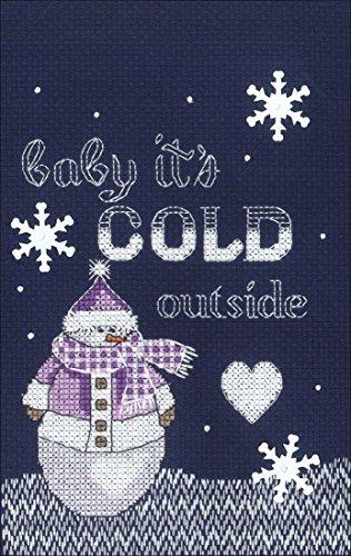 Janlynn Cross Stitch Kit Cold Outside -  Spectrum Crafts Janlynn, JLN25.102