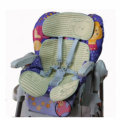 Fairy Baby Folding Summer Child Safety Seat Mat Natural Bamboo Buggy Pad Green,Size 7'' Wx15 L by Fairy Baby (Image #4)