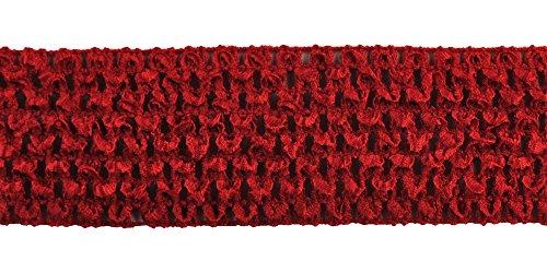 Belagio Enterprises 2-inch Crochet Headband Trim 25 Yards, Red