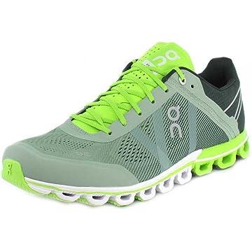 best On Running Mens Cloudflow Moss/Lime Running Shoe - 11 reviews